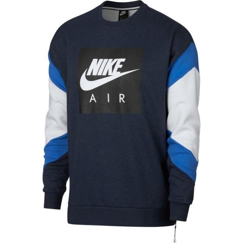 928635-473 M NSW NIKE AIR CREW FLC BLUE 7e4cd8c08f0d4